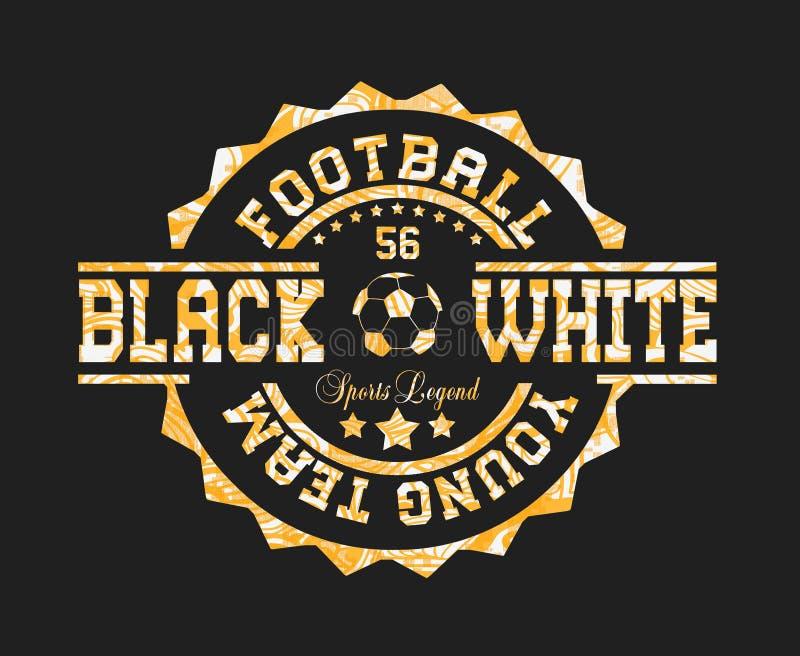 ?voetbal jong team ?, ?zwart wit ?, ?sportenlegende ? stock illustratie
