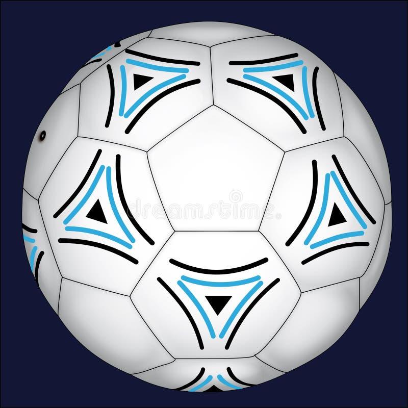 Voetbal met Blauwe en Zwarte Decoratie royalty-vrije stock foto