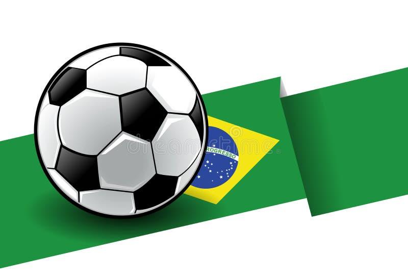 Voetbal met vlag - Brazilië royalty-vrije illustratie