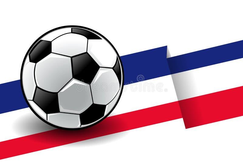 Voetbal met vlag - Frankrijk stock illustratie