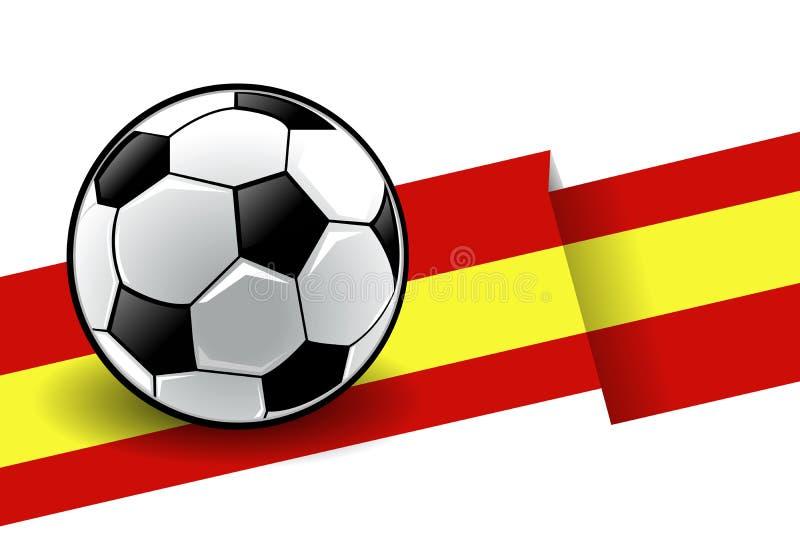 Voetbal met vlag - Spanje stock illustratie