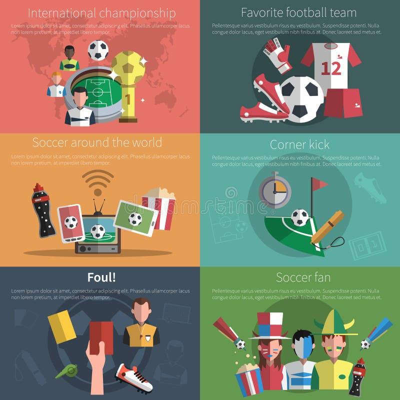 Voetbal Mini Poster Set vector illustratie
