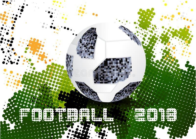 Voetbal 2018, Moskou Rusland vector illustratie