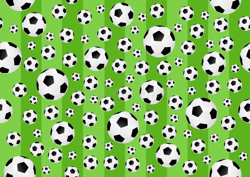 Voetbal naadloze achtergrond royalty-vrije illustratie