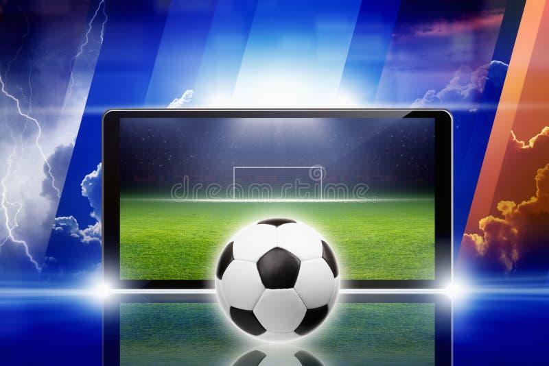 Voetbal online vector illustratie