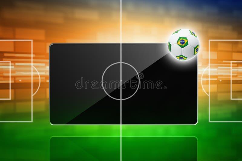 Voetbal online, het voetbal van Brazilië royalty-vrije illustratie