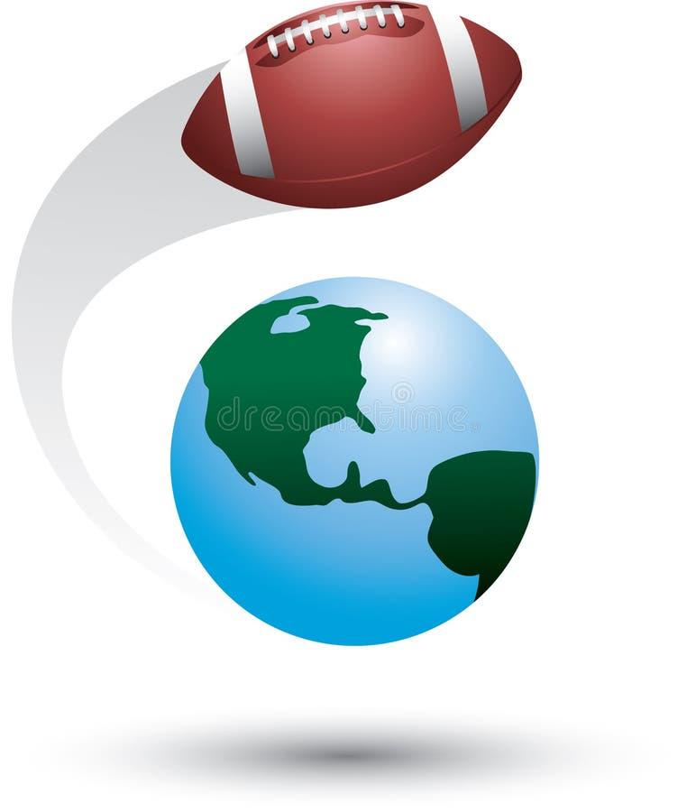 Voetbal rond de wereld royalty-vrije illustratie