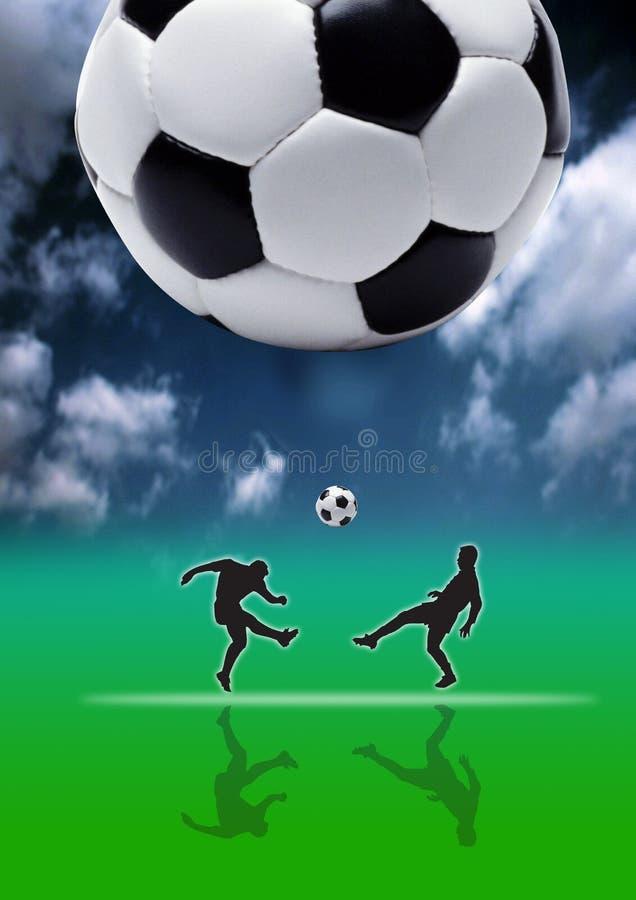 Voetbal - Schop 02 royalty-vrije stock afbeelding