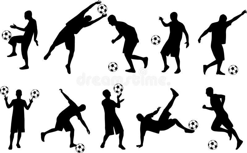Voetbal-speler stock illustratie