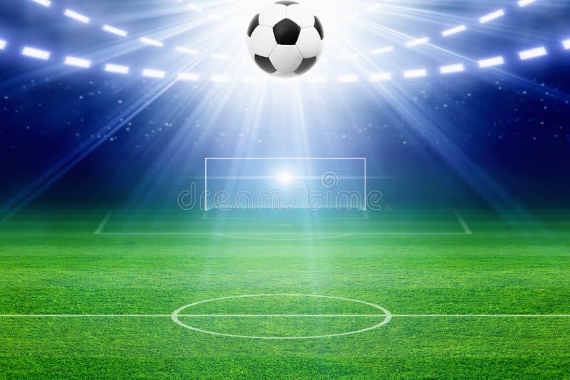 voetbal stadium stock illustratie