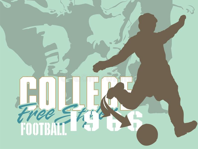 voetbal team royalty-vrije illustratie