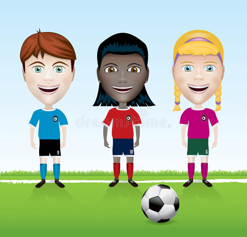 Voetbal Team Youth Illustration vector illustratie