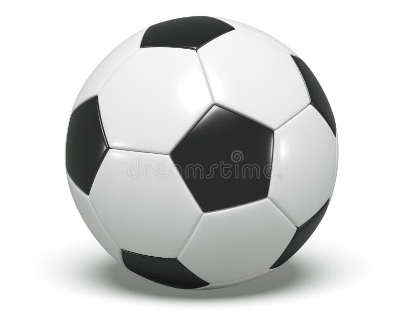 Voetbal/van de voetbalbal concept. royalty-vrije illustratie
