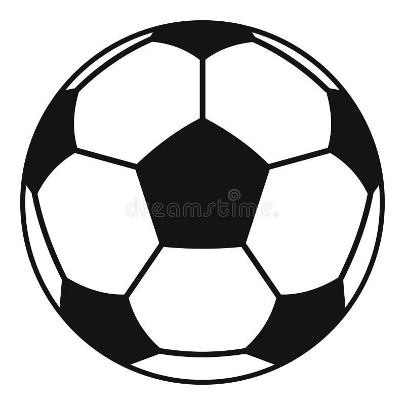 Voetbal of van de voetbalbal pictogram, eenvoudige stijl royalty-vrije illustratie
