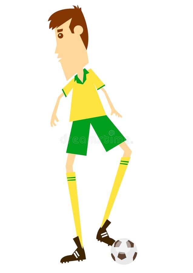 Voetbal of Voetbal royalty-vrije illustratie