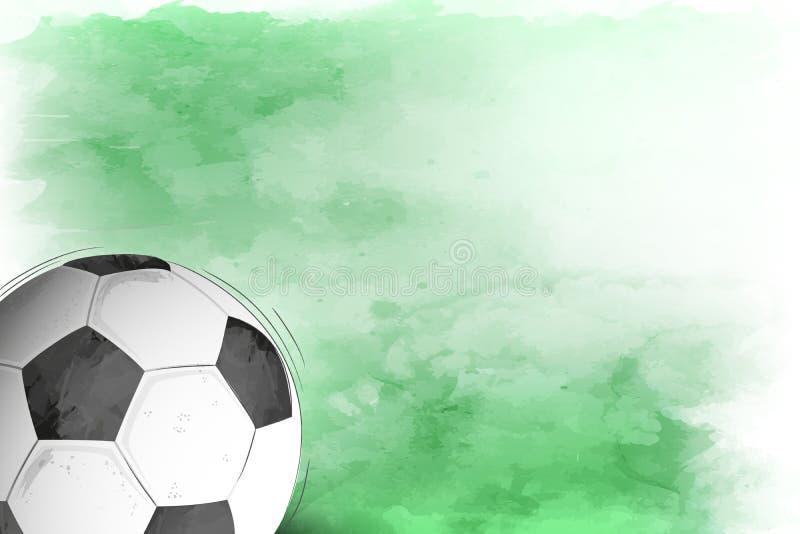 Voetbal of voetbalachtergrond vector illustratie