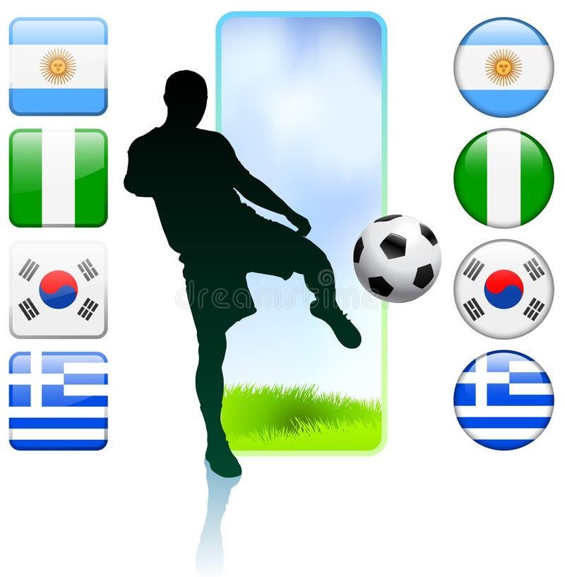 Voetbal/Voetbalgroep B royalty-vrije illustratie