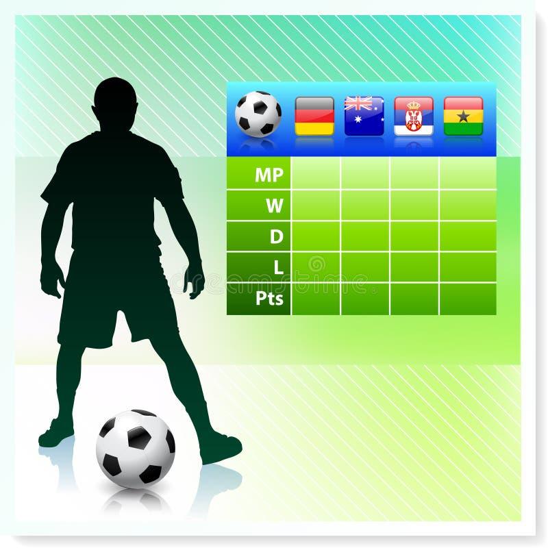Voetbal/Voetbalgroep D op Vectorachtergrond stock illustratie