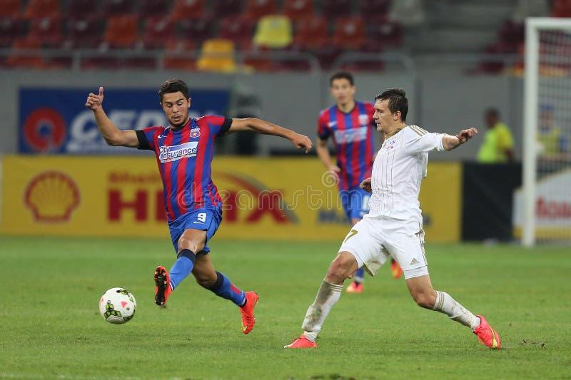 Voetbal of voetballers in actie royalty-vrije stock afbeeldingen