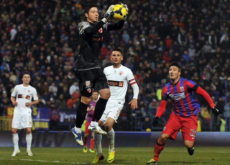 Voetbal of voetballersactie royalty-vrije stock foto
