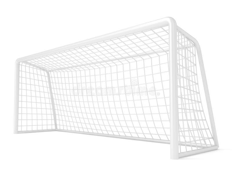 Voetbal - voetbalpoort 3d geef terug vector illustratie