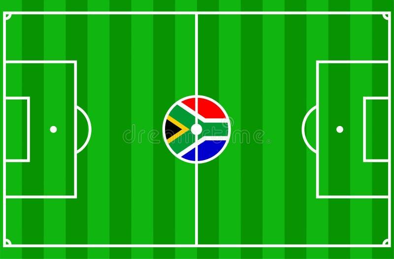 Voetbal Zuid-Afrika 2010 vector illustratie