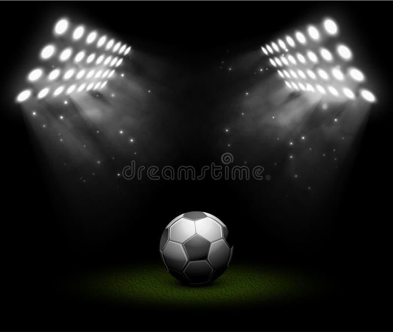 Voetbalbal stock illustratie