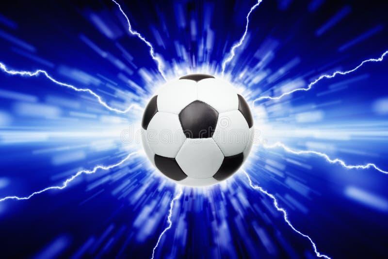 Voetbalbal stock afbeelding