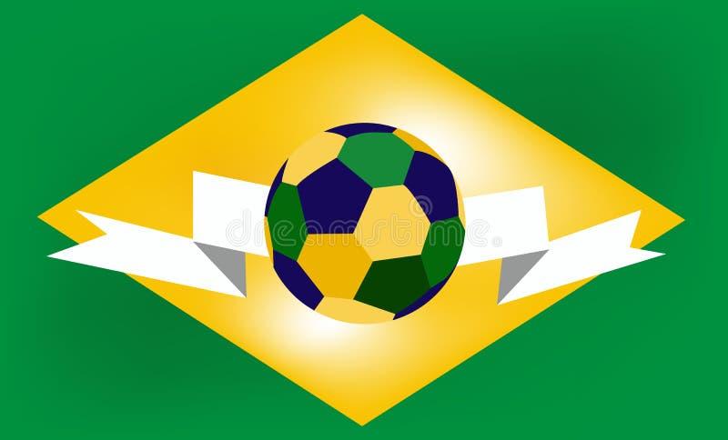 Download Voetbalbal In Het Centrum Van De Vlag Van Brazilië Vector Illustratie - Illustratie bestaande uit land, spel: 39115881