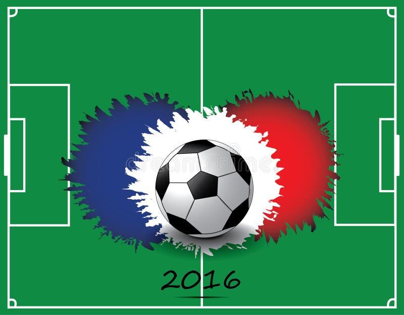 Voetbalbal met de vlagkleuren van Frankrijk royalty-vrije stock foto's