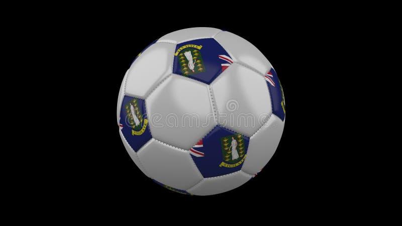 Voetbalbal met vlag Britse Maagdelijke Eilanden, het 3d teruggeven stock illustratie
