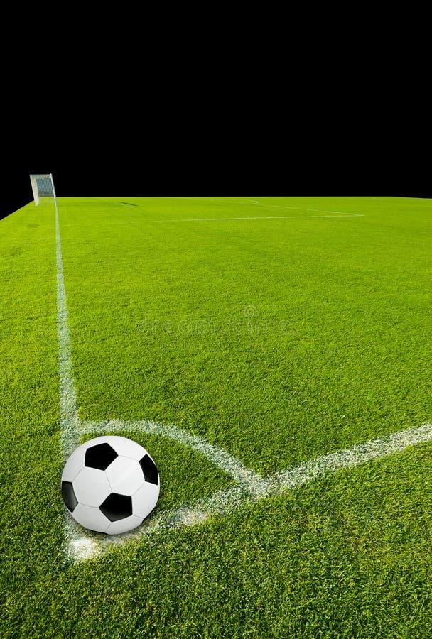 Voetbalbal op Hoekpunt royalty-vrije stock fotografie