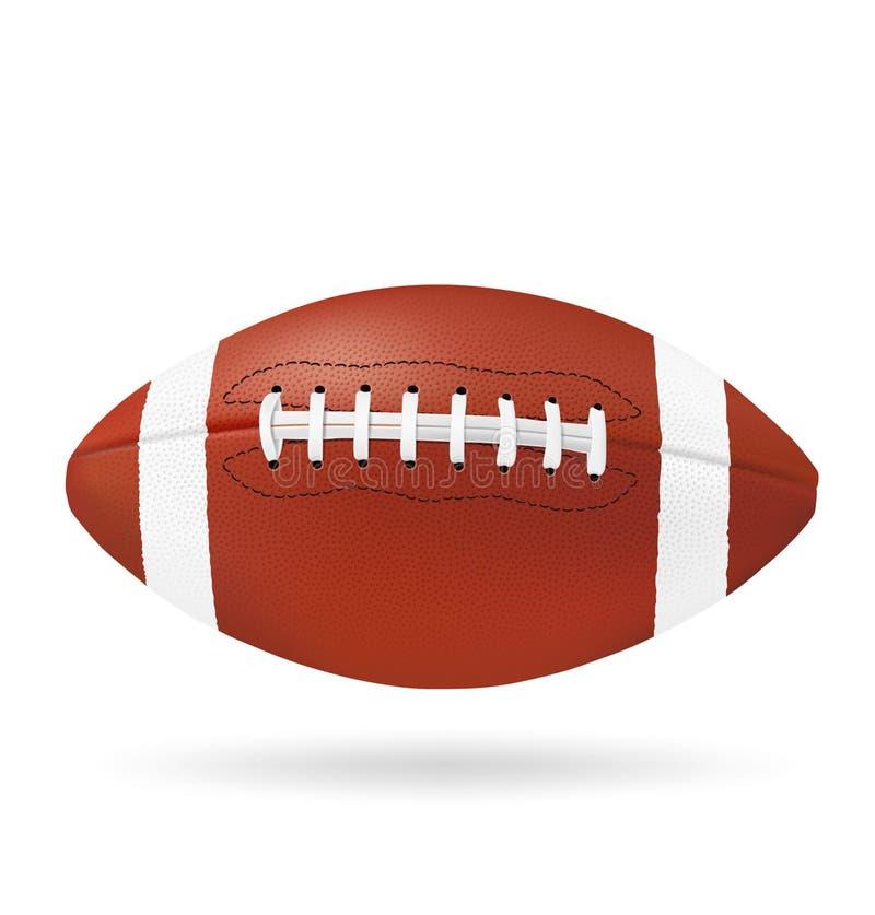 Voetbalbal op witte achtergrond wordt geïsoleerd die Vector illustratie realistisch stock foto
