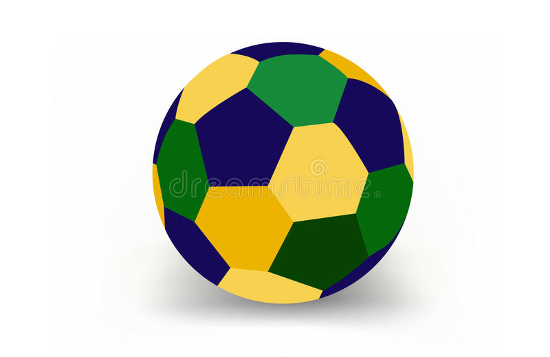 Download Voetbalbal van Brazilië vector illustratie. Illustratie bestaande uit idee - 39115873