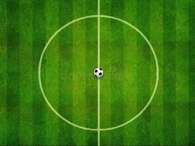 Voetbalcentrum royalty-vrije illustratie