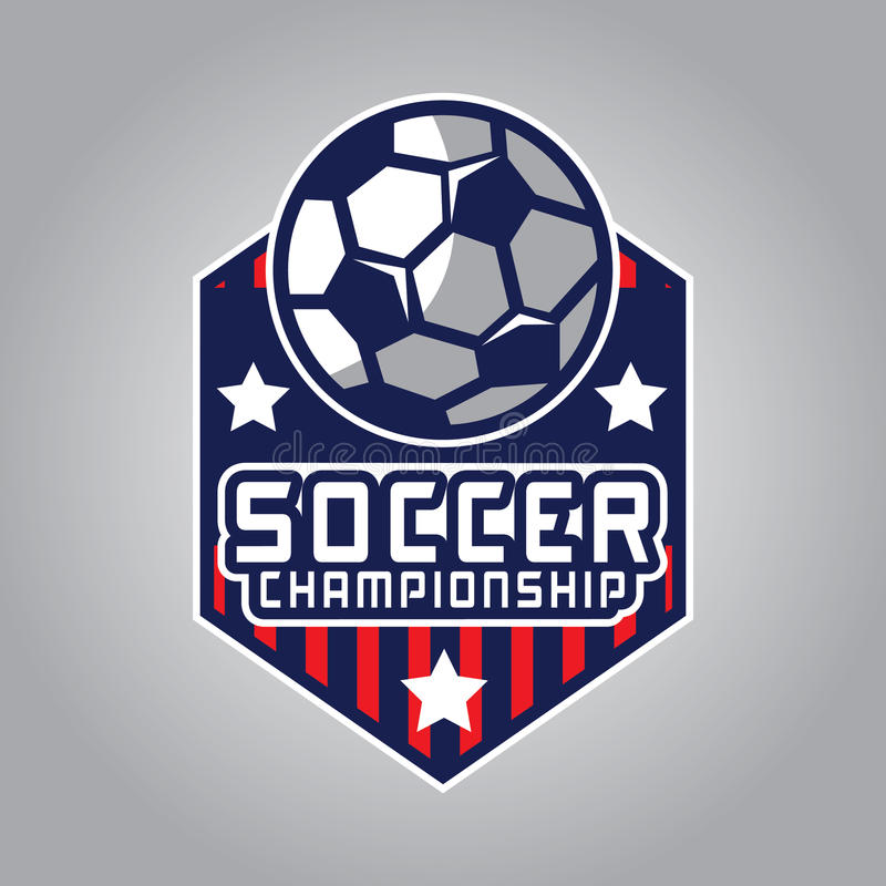 Voetbalembleem, het Embleem van Amerika vector illustratie