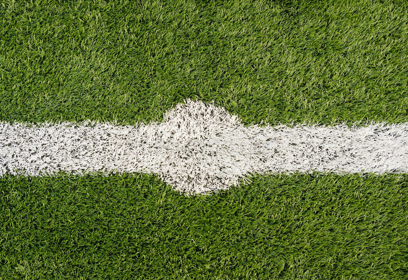 Voetbalgebied stock fotografie