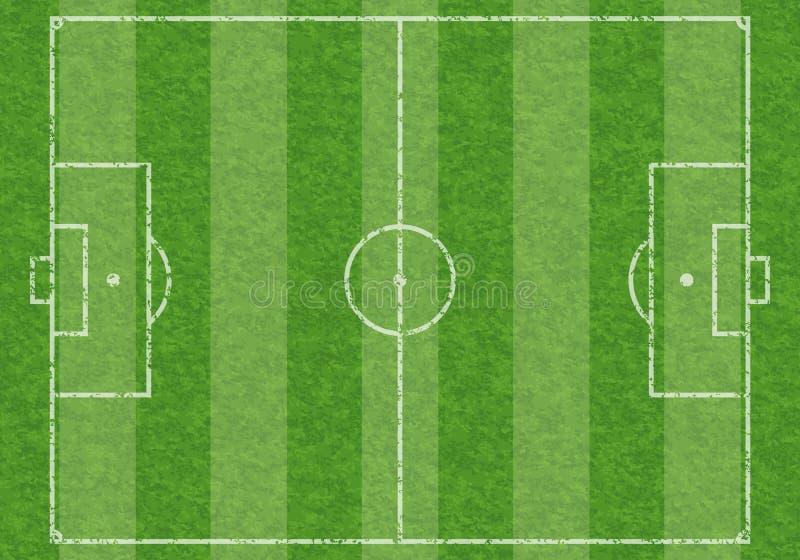 Voetbalgebied royalty-vrije illustratie