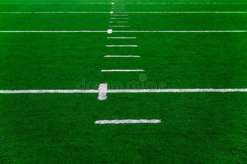 Voetbalgebied royalty-vrije stock afbeelding