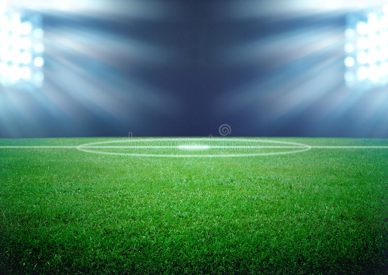 Voetbalgebied royalty-vrije stock foto's