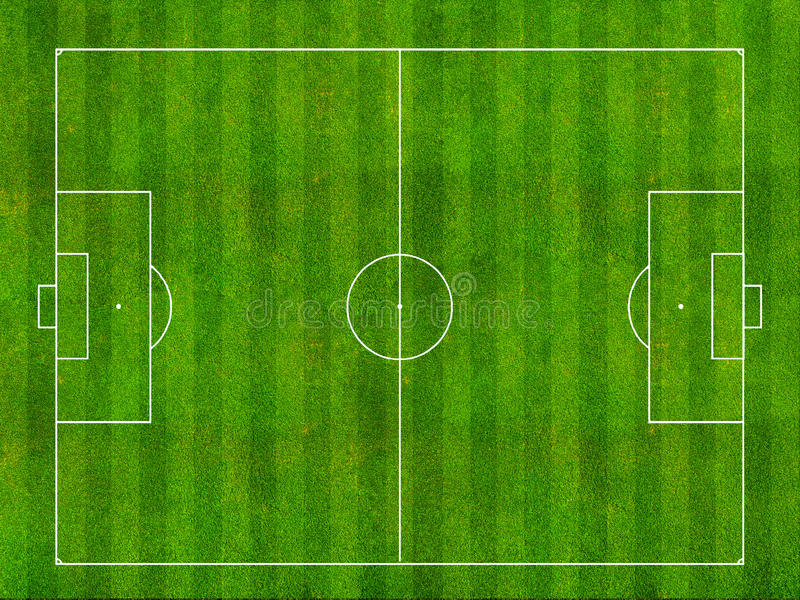 Voetbalgebied vector illustratie