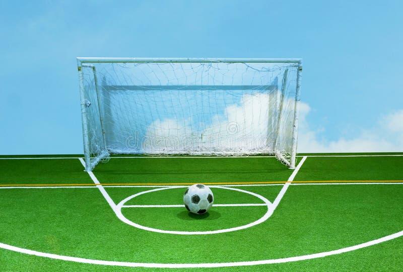 Voetbalgebied (binnen voor jong geitje) royalty-vrije stock fotografie
