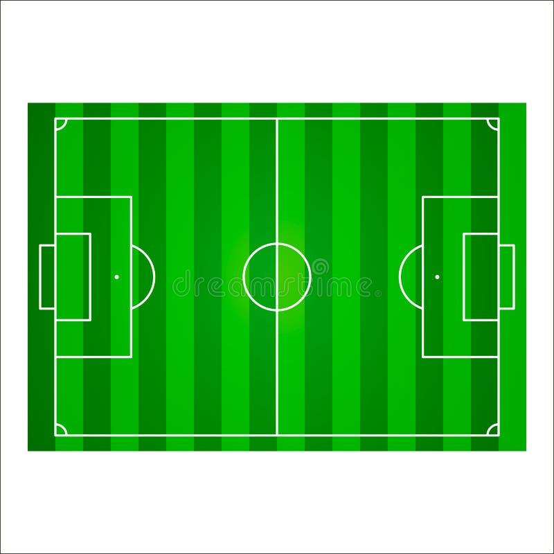 Voetbalgebied of de achtergrond van de voetbalhoogte Vector illustratie royalty-vrije illustratie