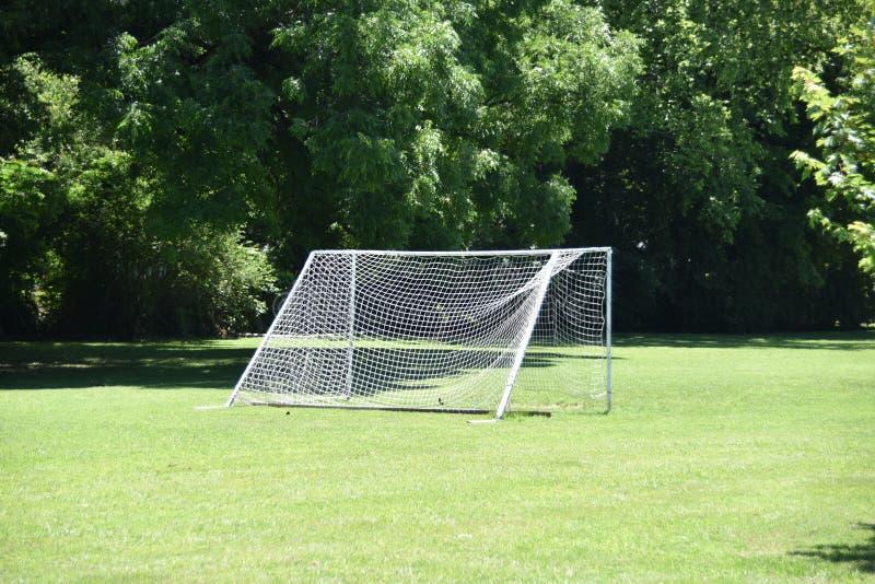 Voetbalgebied in de Dag stock afbeelding