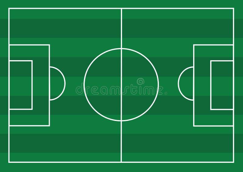Voetbalgebied of gebied van het Voetbal het geweven gras stock illustratie