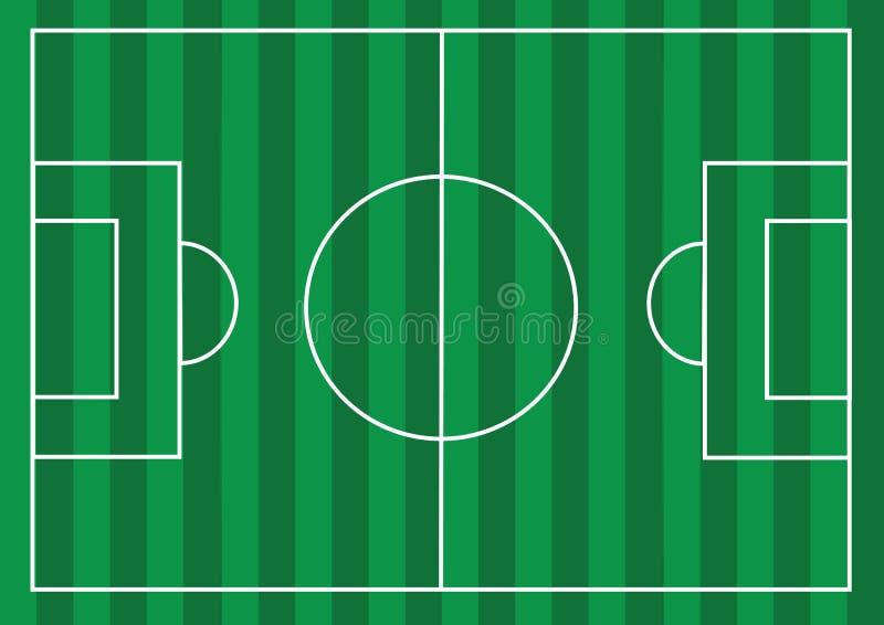 Voetbalgebied of gebied van het Voetbal het geweven gras vector illustratie