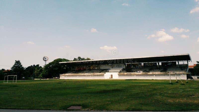 Voetbalgebied in mijn school royalty-vrije stock afbeelding