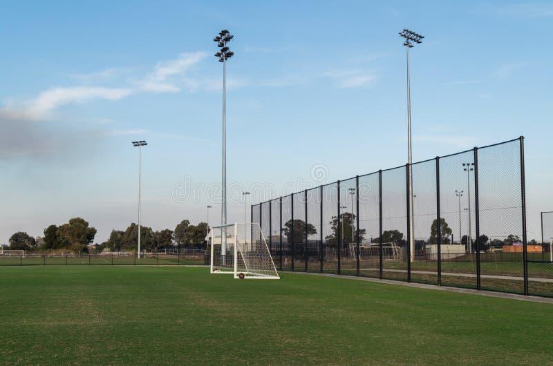 Voetbalgebied in Shepparton, Australië royalty-vrije stock foto's