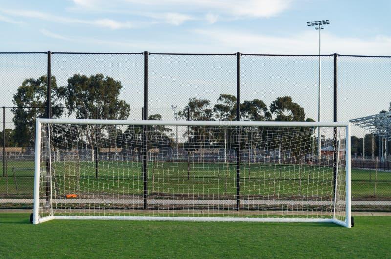 Voetbalgebied in Shepparton, Australië royalty-vrije stock fotografie