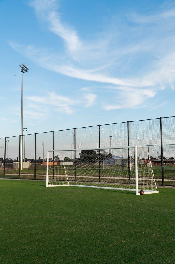 Voetbalgebied in Shepparton, Australië stock afbeeldingen